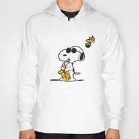 snoopy Hoodies featuring Snoopy by DisPrints