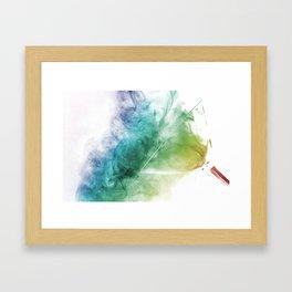 Spilt Smoke Framed Art Print