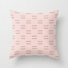 Billie Stripe Blush Throw Pillow