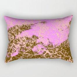 Erina - Abstract Colorful Pink Brown Batik Camouflage Tie-Dye Style Pattern Rectangular Pillow