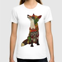 T-shirts featuring fox love juniper by Sharon Turner