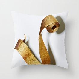 Gold Toilet Paper Throw Pillow