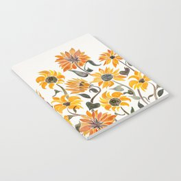 Sunflower Watercolor – Yellow & Black Palette Notebook