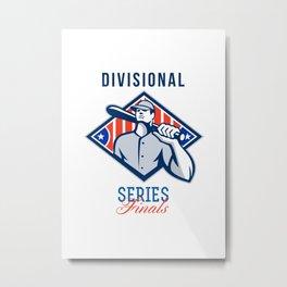 Baseball Divisional Series Finals Retro Metal Print