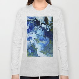 Abstract Nature Acrylic Pour Long Sleeve T-shirt