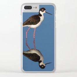 Bird black necked Stilt Himantopus mexicanus Clear iPhone Case