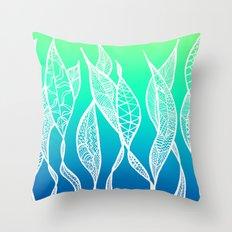 Sway Ombre (Aqua Sea) Throw Pillow