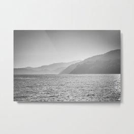 Sea and foggy mountains Metal Print
