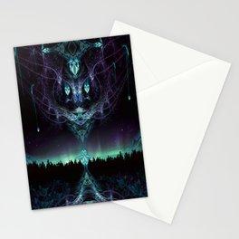 Midnight Aura - Fractal Manipulation - Manafold Art Stationery Cards