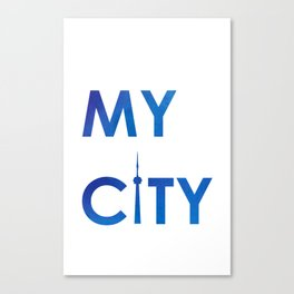 MyCity-Toronto-BlueB Canvas Print