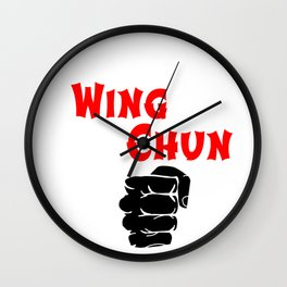 wing chun fist Wall Clock