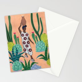 Girl with a jug Stationery Cards