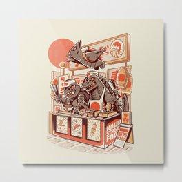 Kaiju street food Metal Print