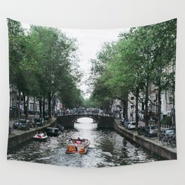 Canal Cruise Wall Tapestry