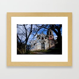 ABANDONED CHURCH IN ITALY Framed Art Print