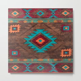 Bohemian Traditional Southwest Style Design Metal Print