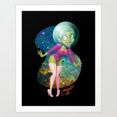 Space Girl  Art Print