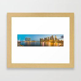 Panoramic view of Singapore Framed Art Print