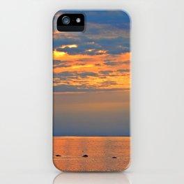 Golden Sunset Sparkle iPhone Case