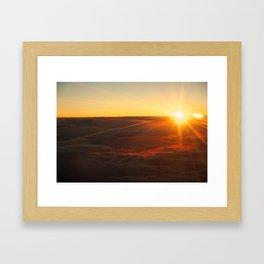 Sunrise from 36,000 Feet Framed Art Print