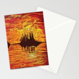 Raging Sunset Stationery Cards