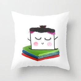 MyHappySquare likes books Throw Pillow