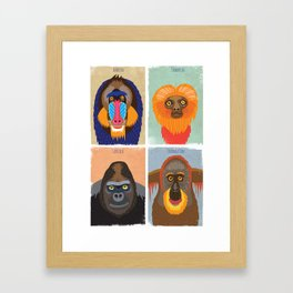 Funky Monkeys Framed Art Print