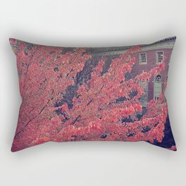 Library in Red Rectangular Pillow
