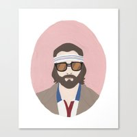 tenenbaum Canvas Prints featuring Richie Tenenbaum by Salome Papadopoullos
