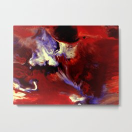 Abstract, Red, White, Violet, Black (CA17036C) Metal Print