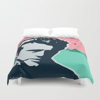 james bond Duvet Covers featuring  james  by mark ashkenazi