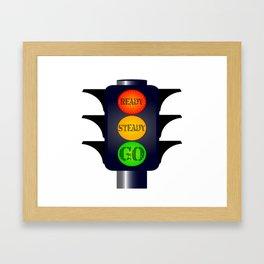 Ready Steady Go Traffic Lights Framed Art Print