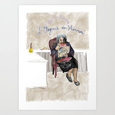 L'élégance du hérisson (Muriel Barbery)- COVERS OF BOOKS THAT NOBODY ASKED ME TO ILLUSTRATE N.1 Art Print