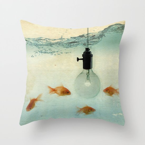 Fishing for ideas Throw Pillow