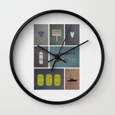 Jaws colors Wall Clock