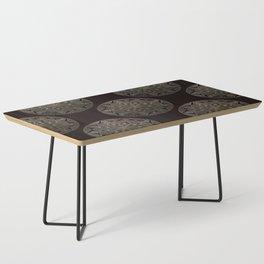 Maroon Mandala Pattern Coffee Table