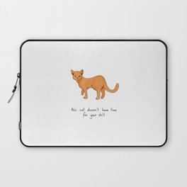 Busy Cat Laptop Sleeve