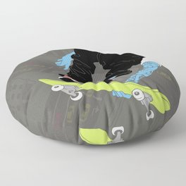 kiss my ass Floor Pillow