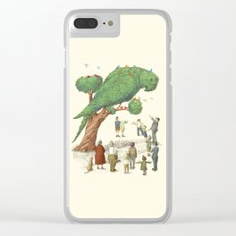 The Parrot Tree Clear iPhone Case
