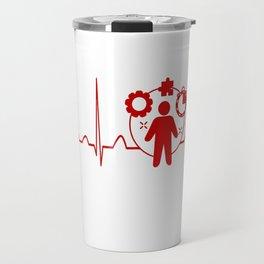Project Manager Heartbeat Travel Mug
