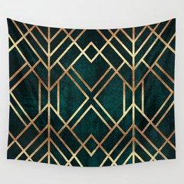 Dark Teal Geo Wall Tapestry