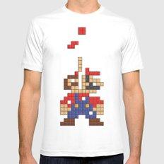 Super Mario Tetris Mens Fitted Tee White MEDIUM