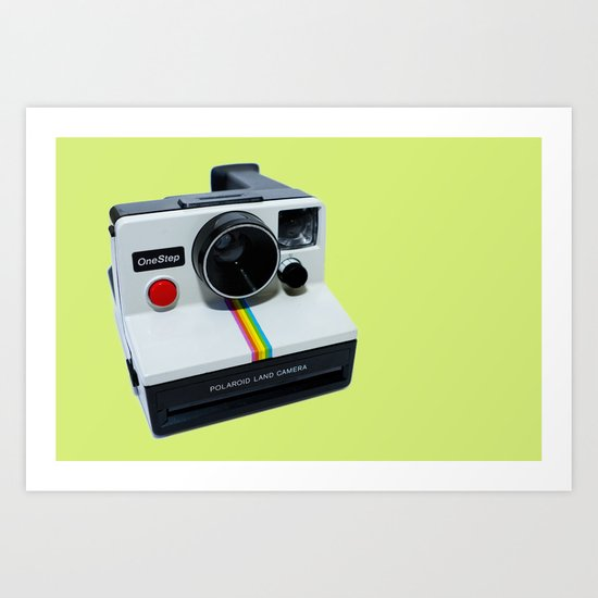 Polaroid OneStep Camera Art Print