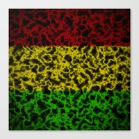 rasta Canvas Prints featuring Electric Rasta by organicdreams