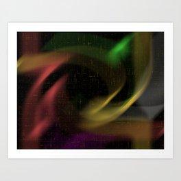 abstract colourart Art Print