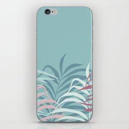 Botanical illustration in a light green background iPhone Skin