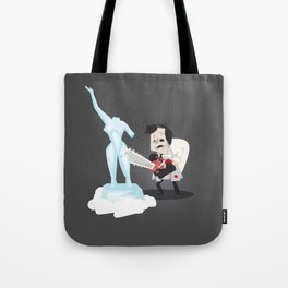 Texas Chainsaw Ice Sculpting Tote Bag