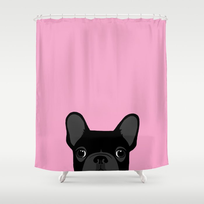 French Bulldog Shower Curtain By Annewashere