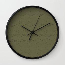 Hemlock Finch Stitched Wall Clock