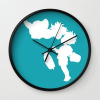 ponyo Wall Clocks featuring STUDIO GHIBLI'S PONYO by The Fugu Project